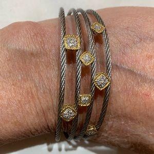 Charriol confetti bracelet cuff